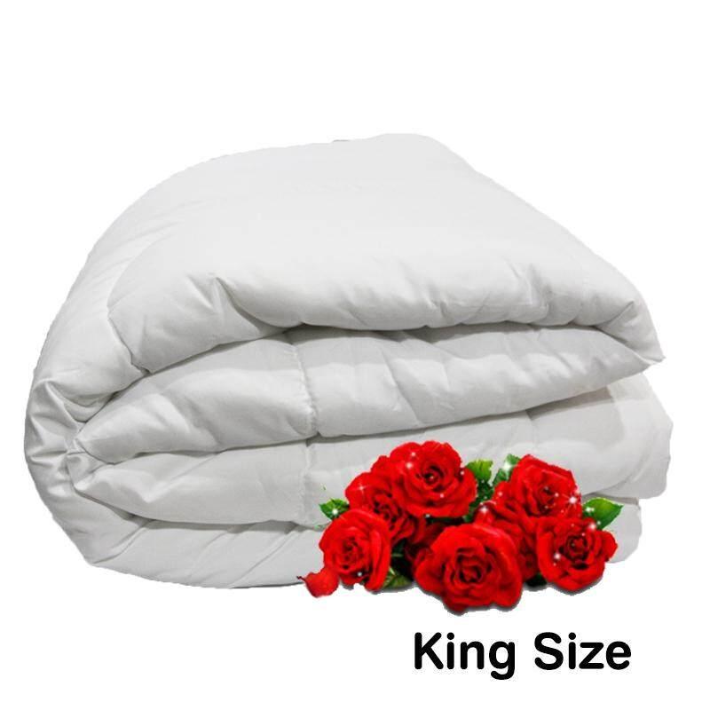 """Linen Series, Polyester Filled 165gm White Duvet Insert - King 96""""x 85"""""""