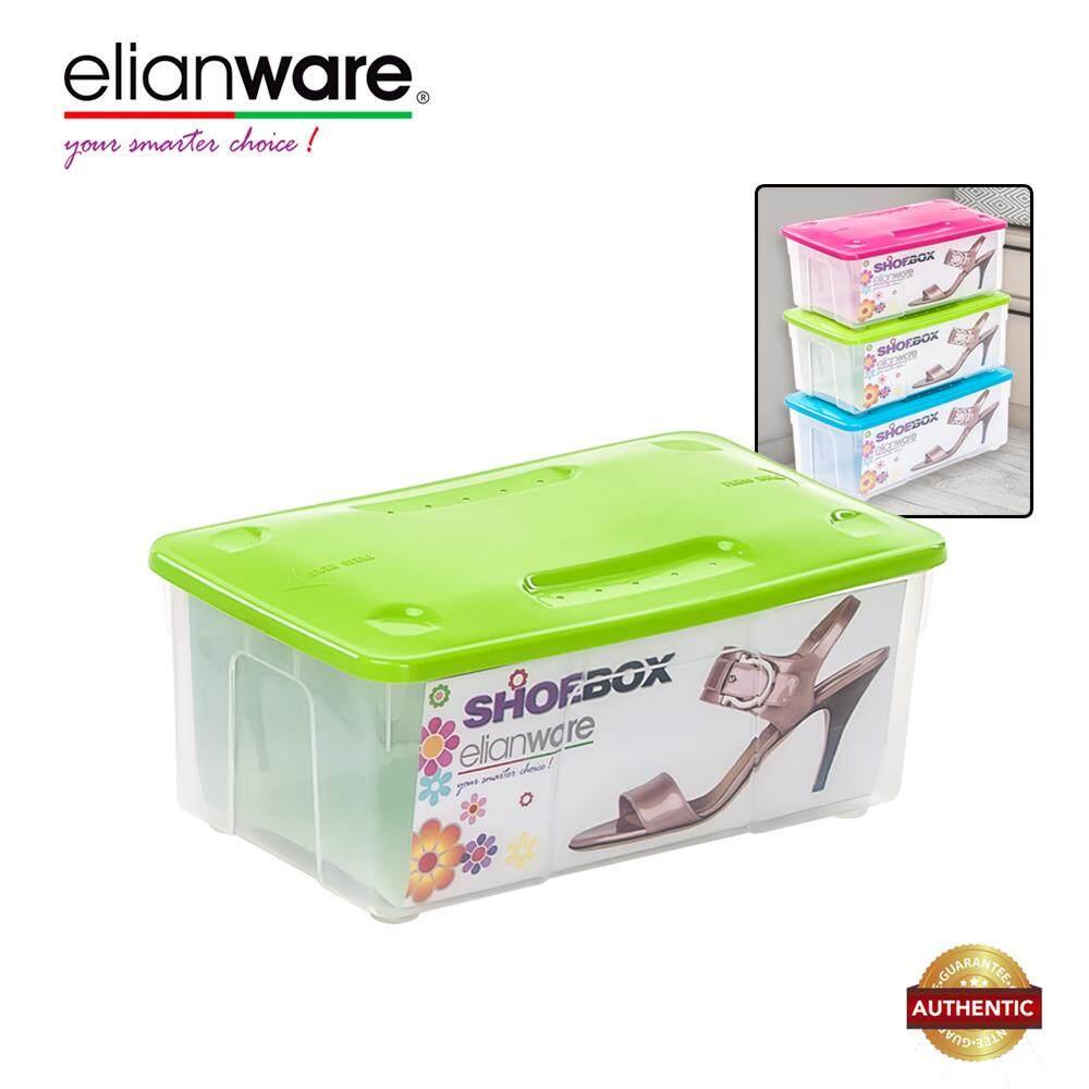 Elianware Stackable Transparent Shoe Rack (S) Kota Kasut Storage Box Men's Women's