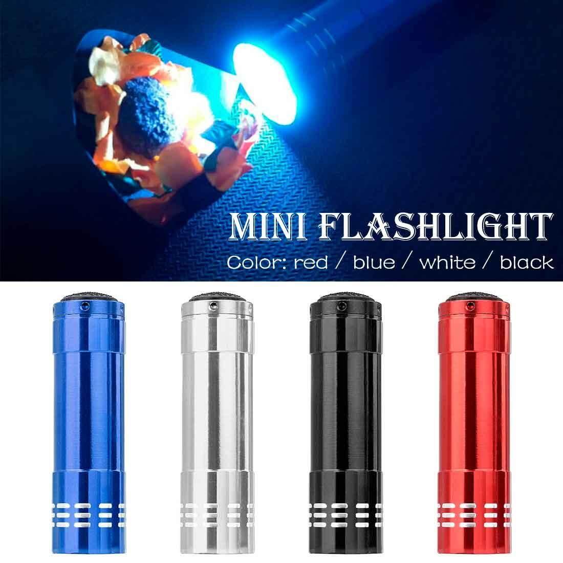 ... Aluminium Mini UV 9 Senter LED Cahaya Hitam AAA Obor Lampu Terang Hitam 82*24 ...