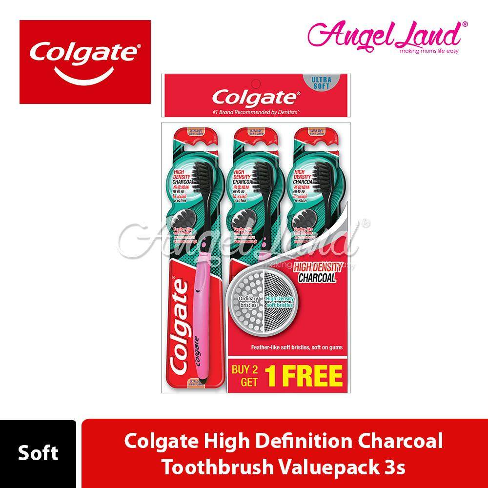 Colgate High Definition Charcoal Toothbrush Valuepack 3s
