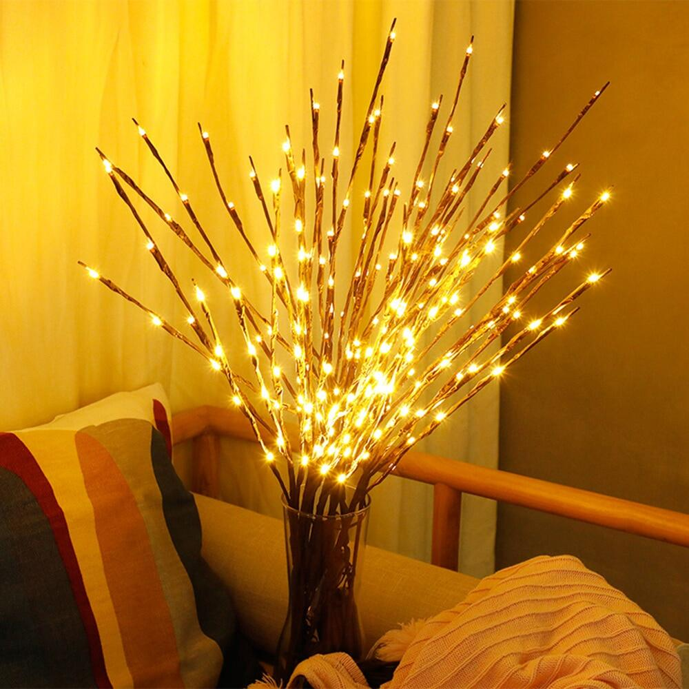 20 Bulbs Led Fairy Lights Willow Branch
