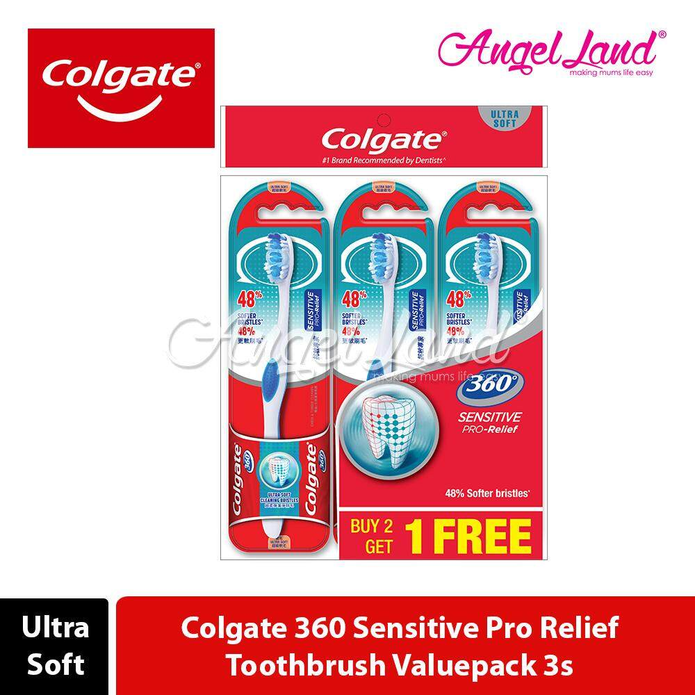 Colgate 360 Sensitive Pro Relief Toothbrush Valuepack 3s (Ultra Soft)