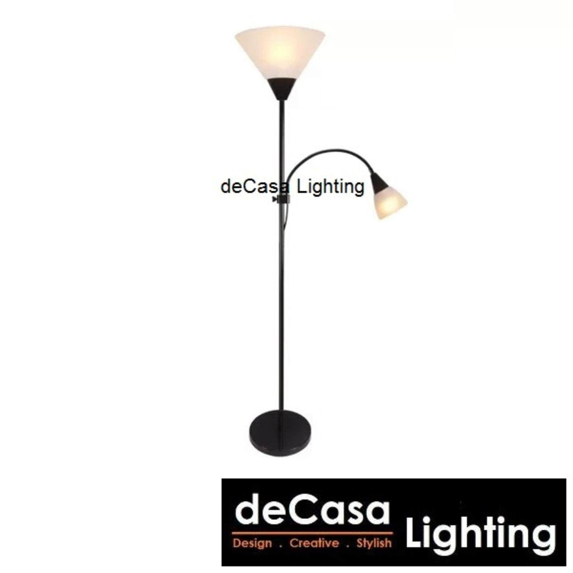Floor Lighting Decasa Lighting Ikea Style Floor Lamp Stand Lamp Adjustable Standing Lamp (HA-BSL-5021-BK)