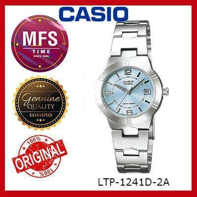 (2 YEARS WARRANTY) CASIO ORIGINAL ENTICER LTP-1241D-2A SERIES LADIES WATCH