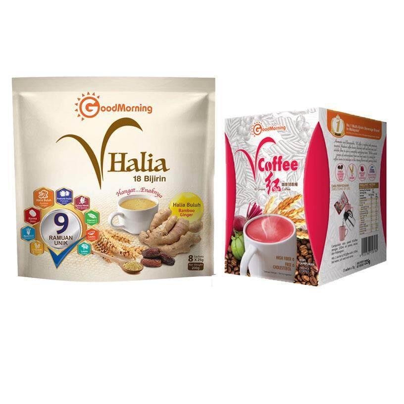GoodMorning Vhalia Sachet 8s + VCoffee Fat Burning Coffee 15s