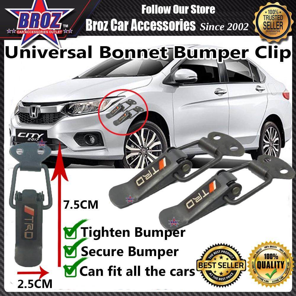 Universal Car Bonnet Bumper Clip Small - TRD Black