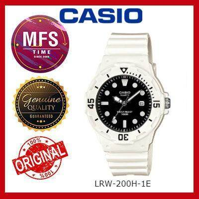 2 YEARS WARRANTY) CASIO ORIGINAL LRW-200H-1E SERIES STUDENT & KID'S WATCH