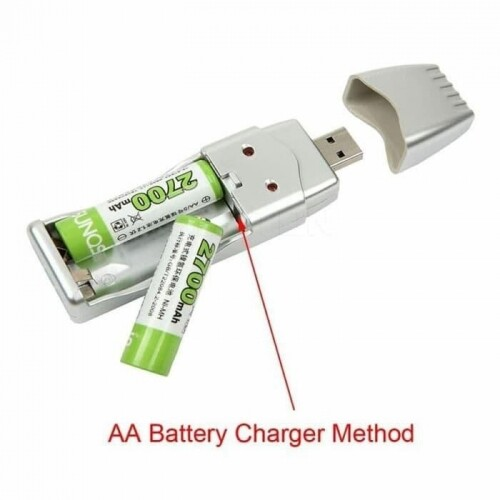 QQ Light Weight Rechargeable NiMH Battery Charger AA AAA High Capacity USB Charger 2A 3A 160mA USB DC 5V Input USB Port/AC Converter Powered