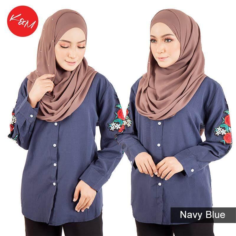 KM Rosy Muslimah Blue Shirt [M14155]