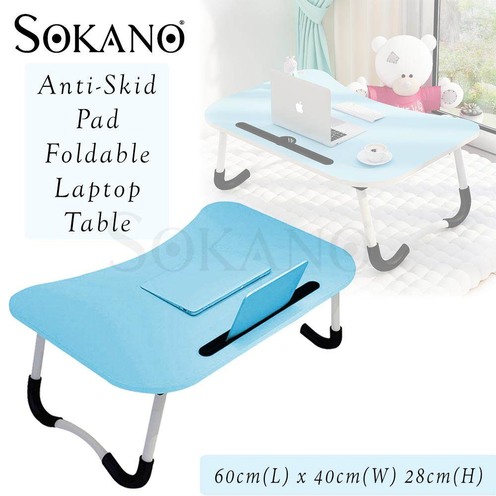 (RAYA 2019) SOKANO Foldable Laptop Table LP01 Multi-functional Laptop Table Foldable Table Portable Desk With Anti-Skid Pad Meja Lipat Meja Laptop Lipat