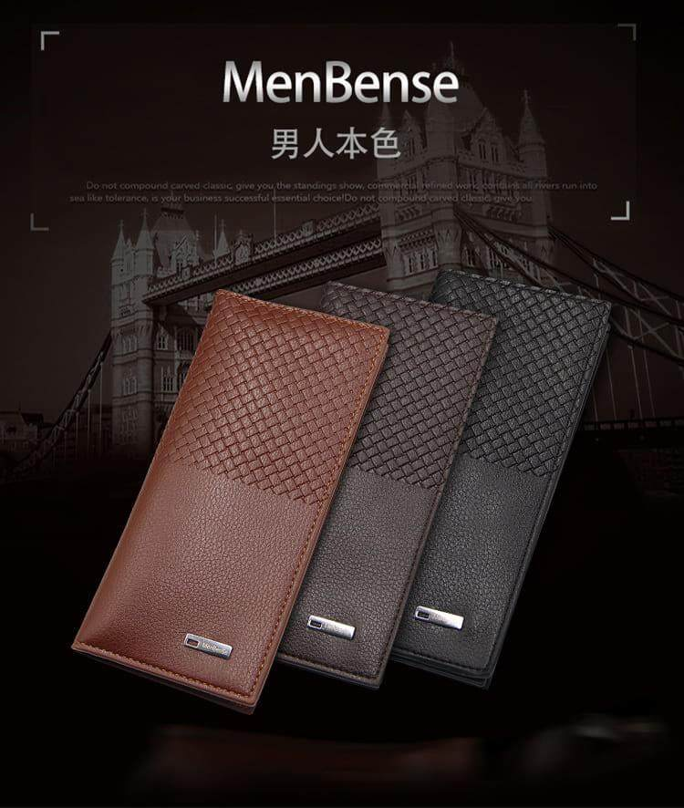[M\'sia Warehouse Direc] 2019 Korean Series Men\'s Fashion Multifunctional Luxury Long Purse Fengshui Portable Long Wallet With Zip Clutch Card Coin ID Lightweight Flexibility Genuine Leather Hand Carry Bag Perfect Gift For Father Day Dompet Panjang Kulit