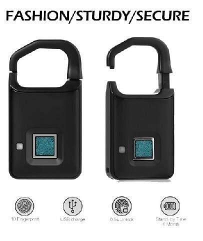 P4 Smart Fingerprint Lock USB Charging Keyless Anti-Theft Padlock