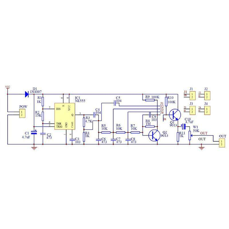 ❥Gracekarin Online NE555 multi-channel waveform generator module sine  triangle square wave DIY kit
