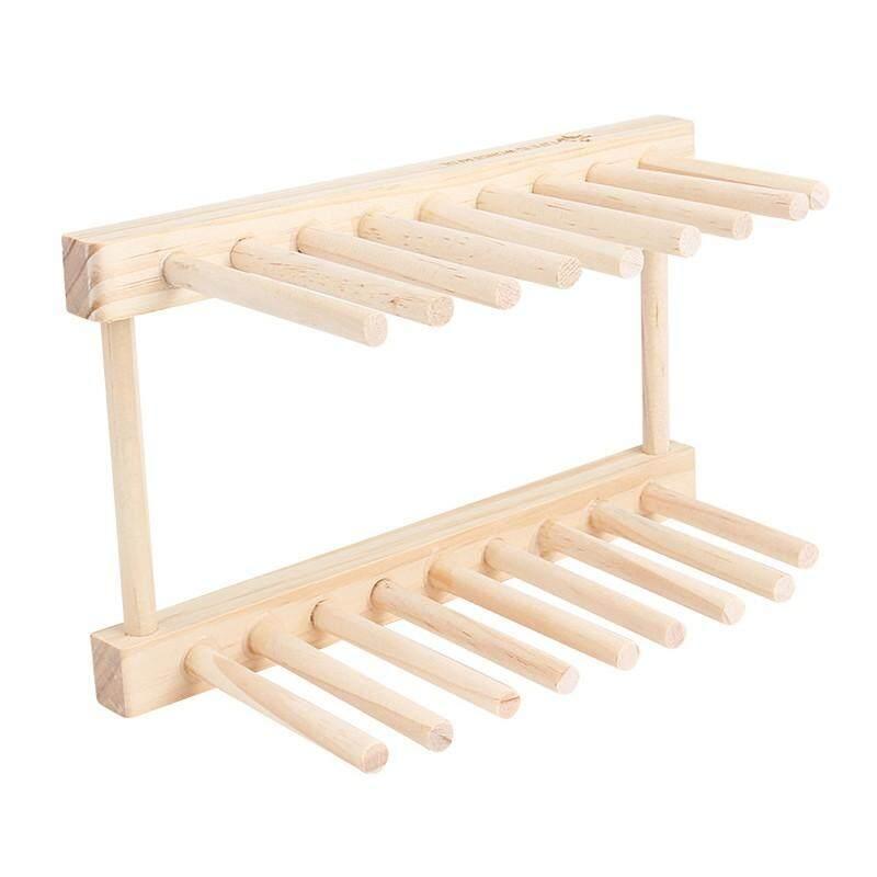 Racks & Shelves - Wooden Tableware Shelf  Cup Rack Drain Bowl Rack Kitchen Dish Shelf Kitchen tool