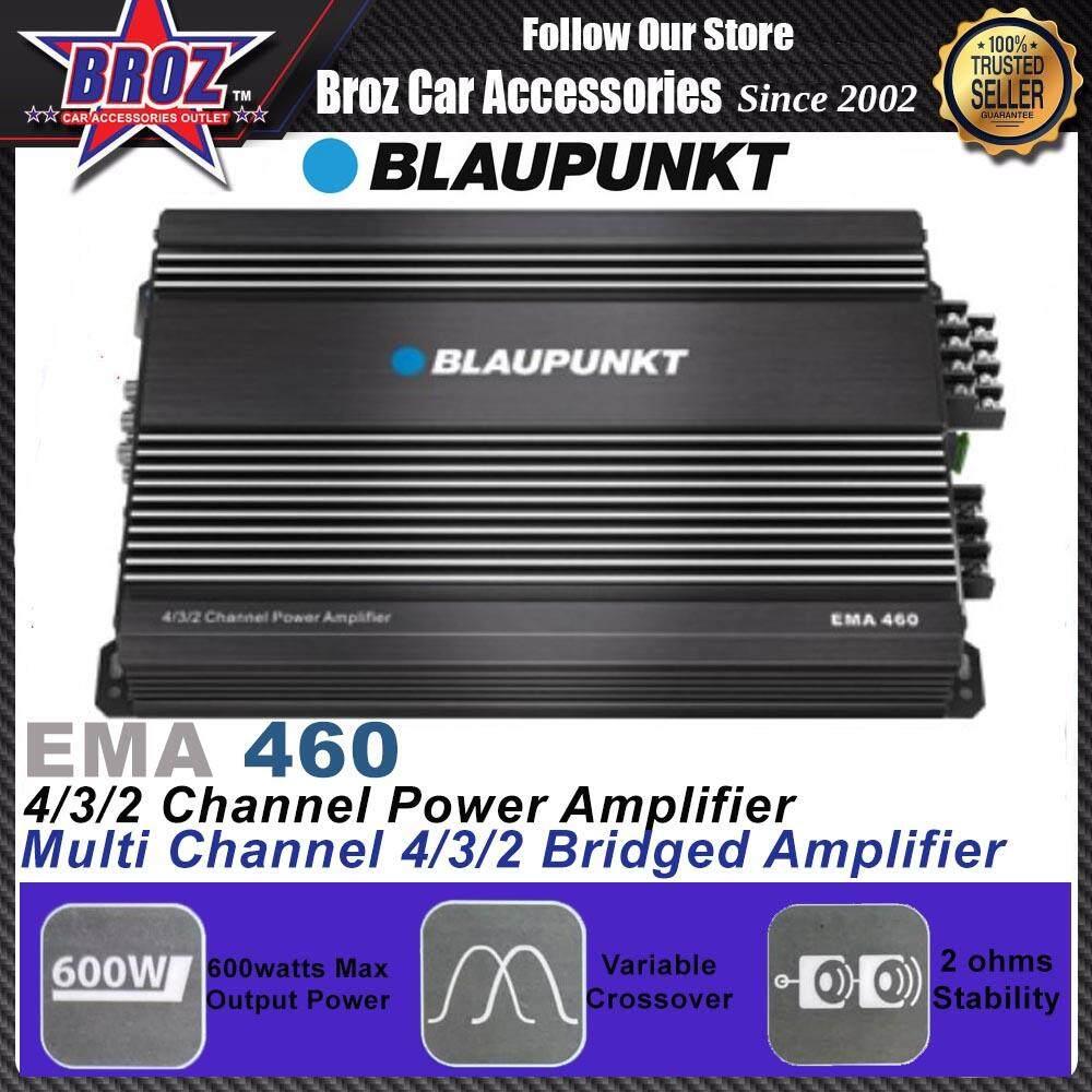 Blaupunkt EMA 460 CLASS-AB 600WATTS 4/3/2-Channel Power Car Audio Amplifier