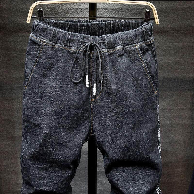 ... Ukuran Besar Hitam Celana Jeans Pria Biru Slim Celana Panjang Elastis Seluar Jeans Musim Semi Baru ...