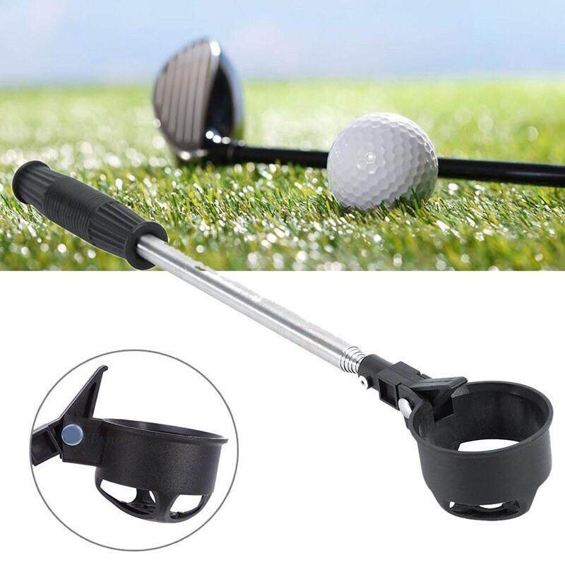 Golf - Scoop Telescopic Golf Ball Retriever Pick Up Stainless Steel Shaft Tool