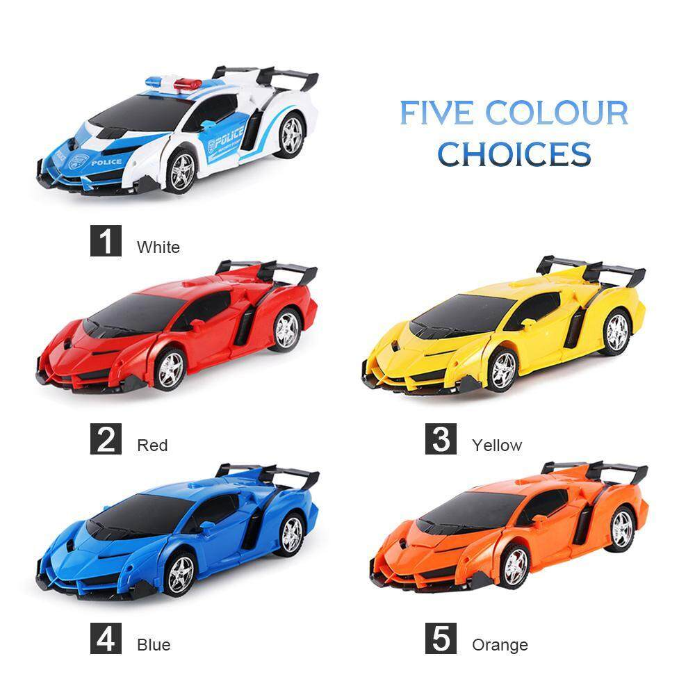 Good Breeze RC Deformable Car, Rechargeable Upgrade Version with LED Light,  One-Button Transforms into Robot, Car Toy for Kids