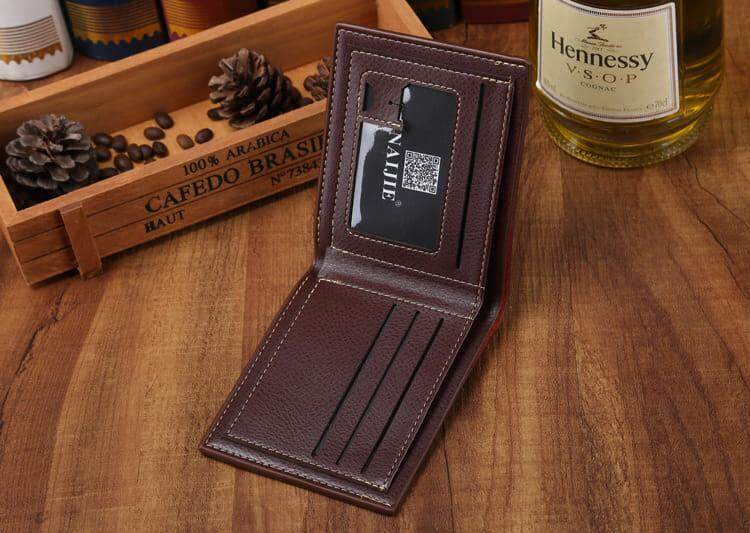 [READY STOCK] 2019 Korean Series Men's Fashion Wallet Bi-Fold Fengshui Wallet Europe Designer Perfect Gift (Come With Box) Clutch Card Coins Cash Slot With Zip Portable Hand Carry Bag Luxury Top Material Genuine Leather Halal Dompet Kulit
