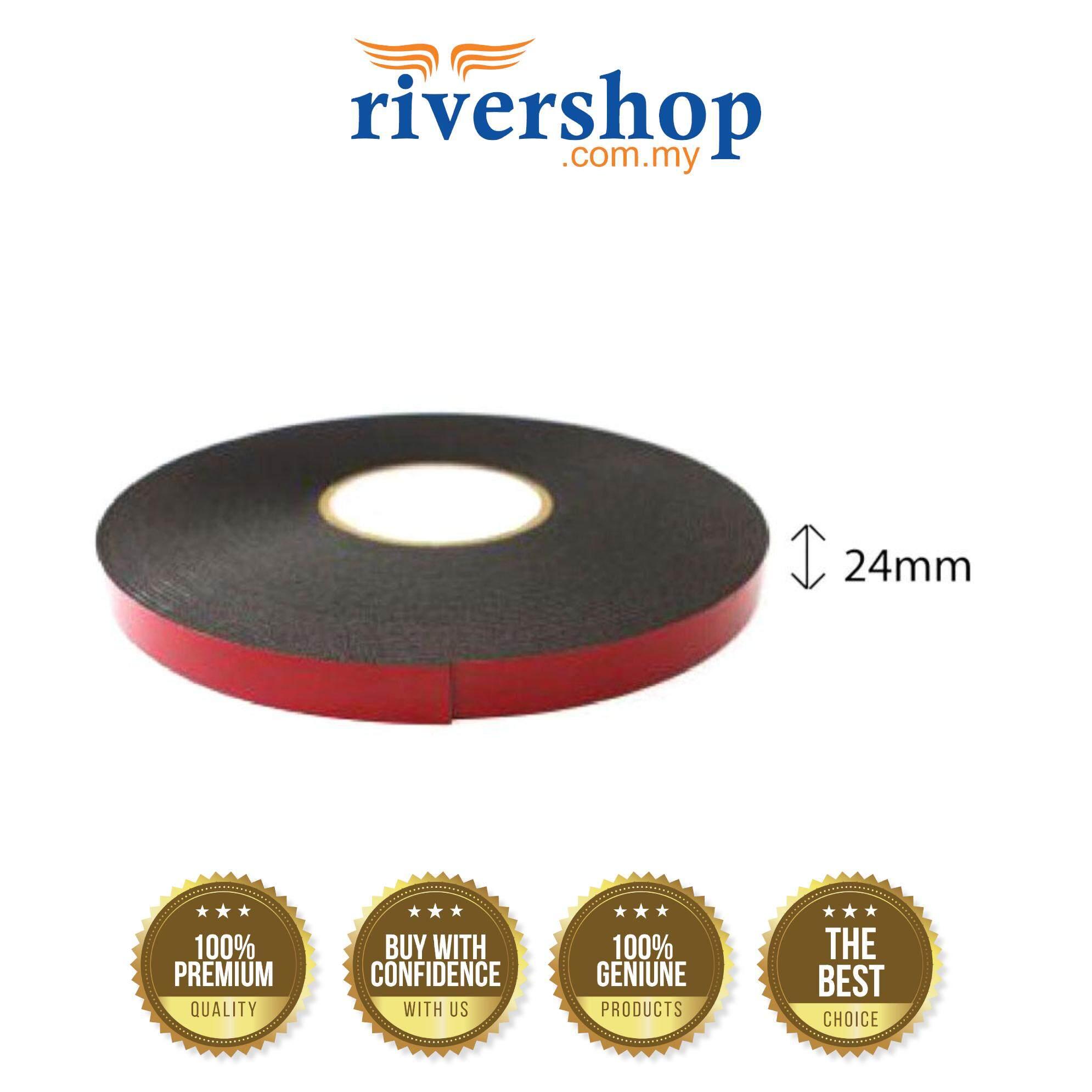 Double Sided PE Foam Tape (Black) - 24mm X 8m