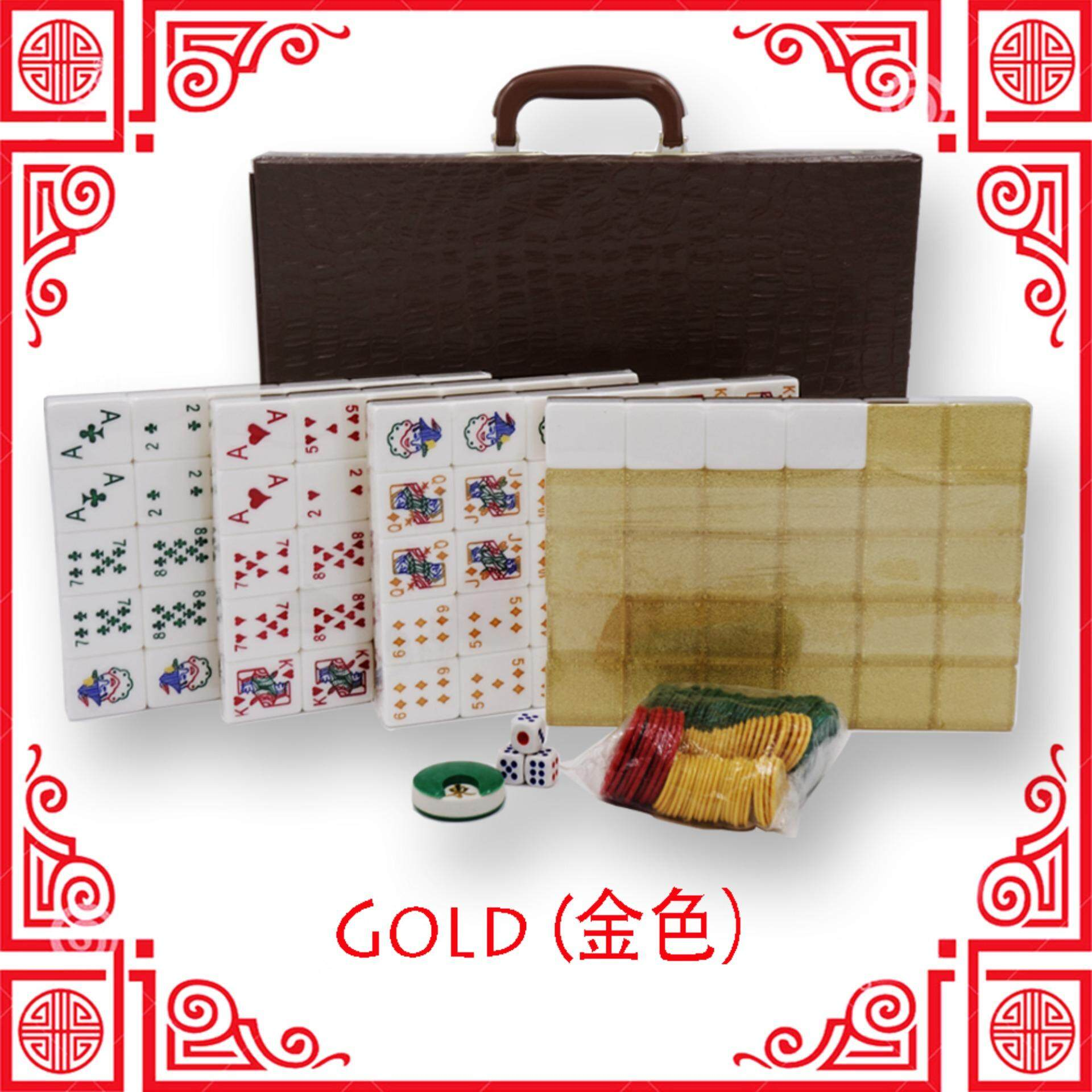 [Ready Stock] Rummy Mahjong Set Gold Edition [Fast Delivery]