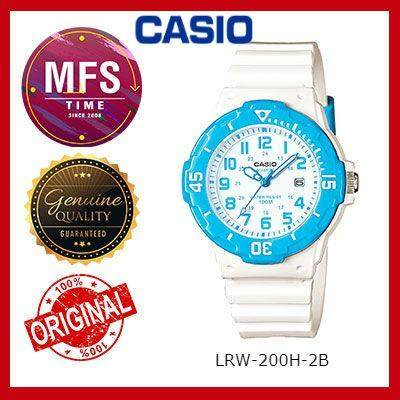 2 YEARS WARRANTY) CASIO ORIGINAL LRW-200H-2B SERIES STUDENT & KID'S WATCH