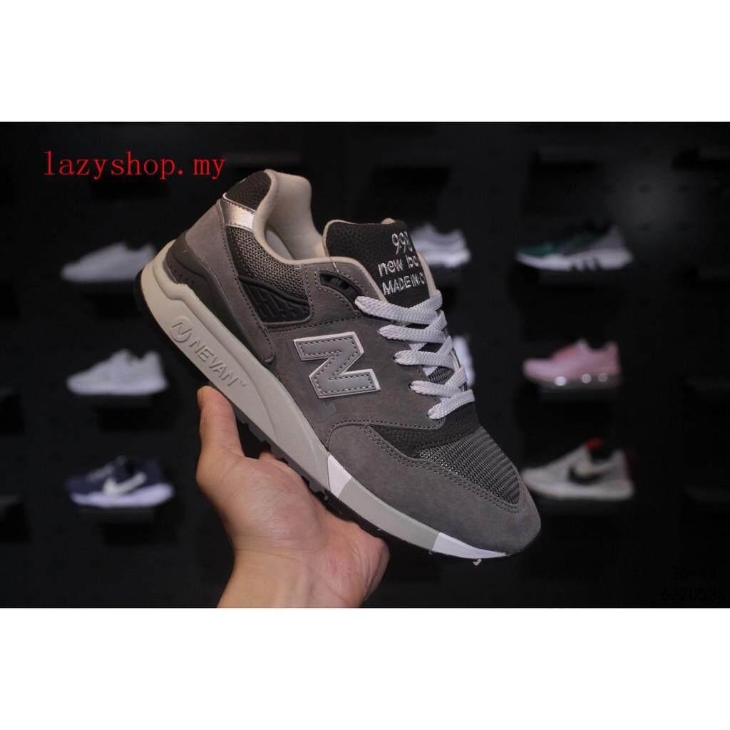 สอนใช้งาน  น่าน ขายดี New Balance 998 รองเท้าผ้าใบสำหรับชายและหญิงกีฬารองเท้าสบายๆสีเทา