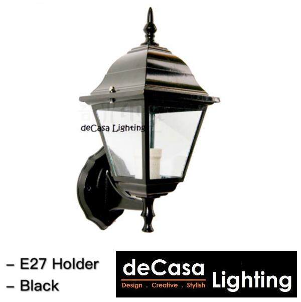 Outdoor Wall Light DECASA Wall Lamp Lampu Hiasan Dinding (Black) (APH-1904-4GF-BK-W)
