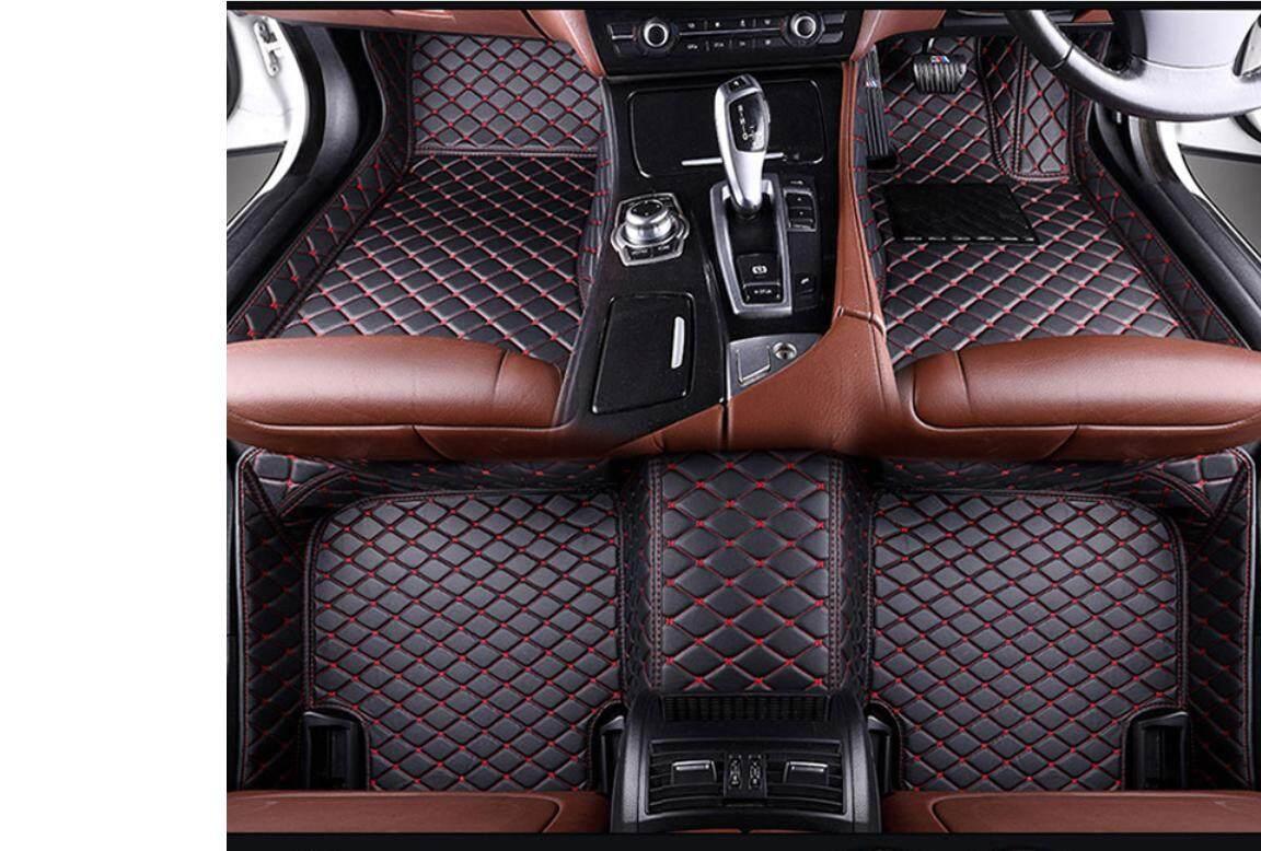BOSOKO 5D CARPET For Proton Saga VVT (2016-Present) Car Floor Mat Carpet Full Set (Black + Red Lining)