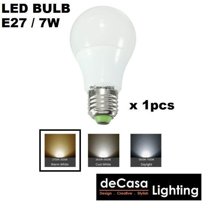 1Pcs of E27 7w LED Warm White Bulb for Pendant Light Ceiling Lamp Outdoor Light Globe Led Bulb (DCS-MGB-E27-7W-WW)