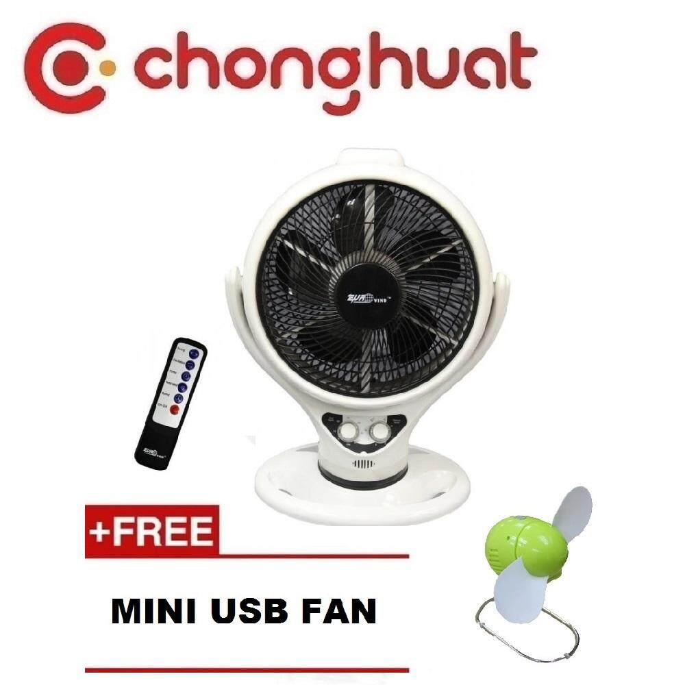 """Eurowind ERW-33E2 14"""" Air Circulation Fan with Remote Controller (White)"""