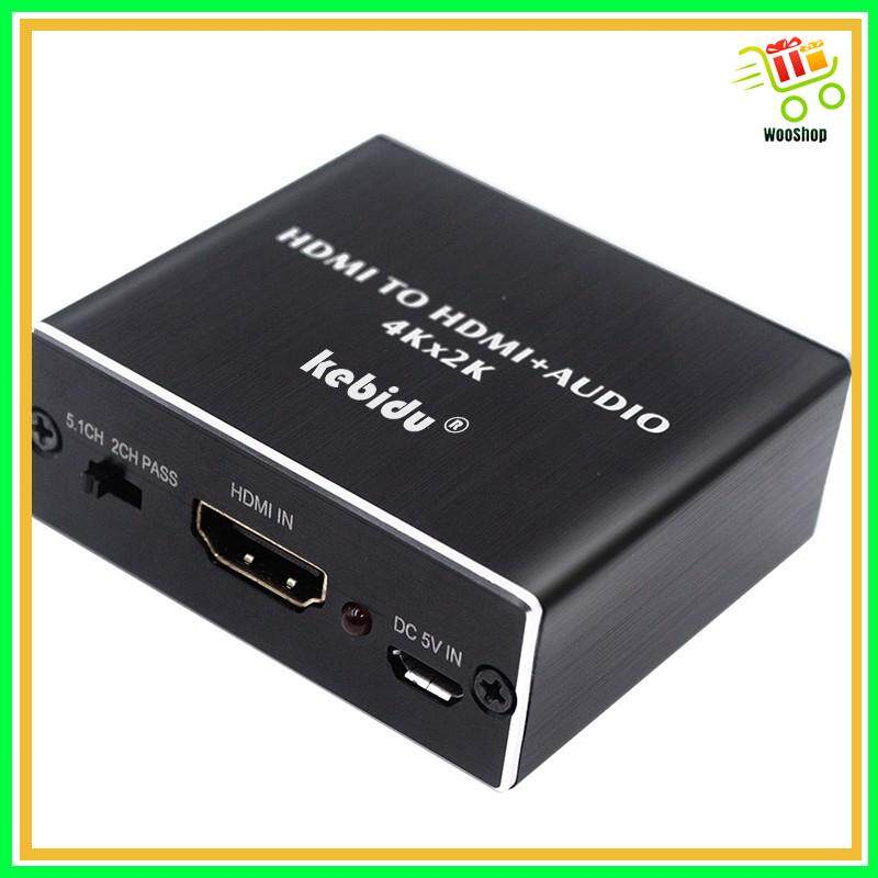 HDMI Audio Extractor HDMI to HDMI Optical TOSLINK SPDIF + 3.5mm Converter