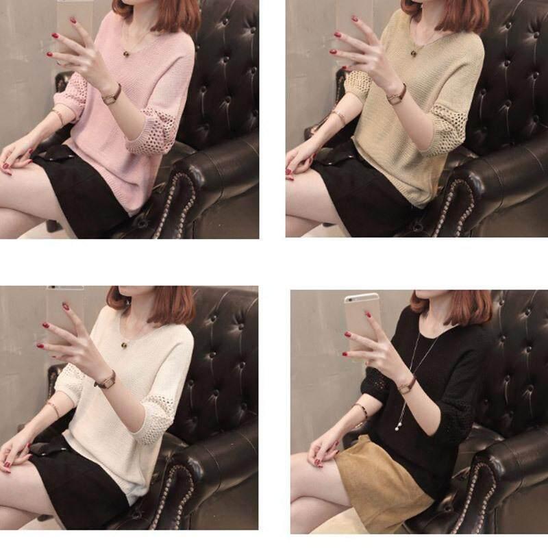 Hình ảnh Đồ Dệt Kim Nữ Áo Len Cổ Tròn Đơn Giản Thoáng Khí Thanh Lịch Ôm Vừa Kích Thước Tự Do