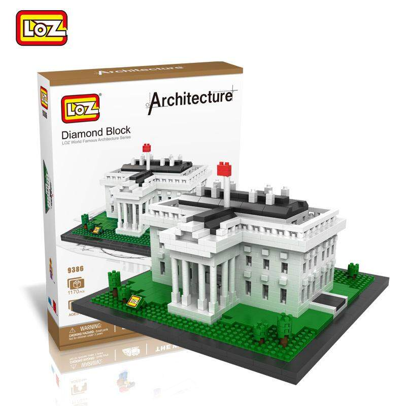 Architecture/Building Series: USA White House Loz 9386 Nano/Diamond Block [Nanoblock Compatible]