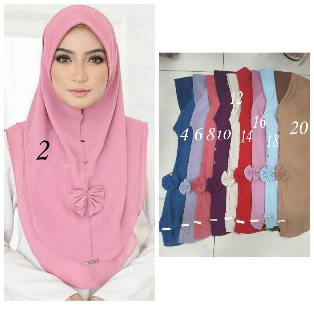 Tudung Ribbon With Tudung Cotton Printed Fashion