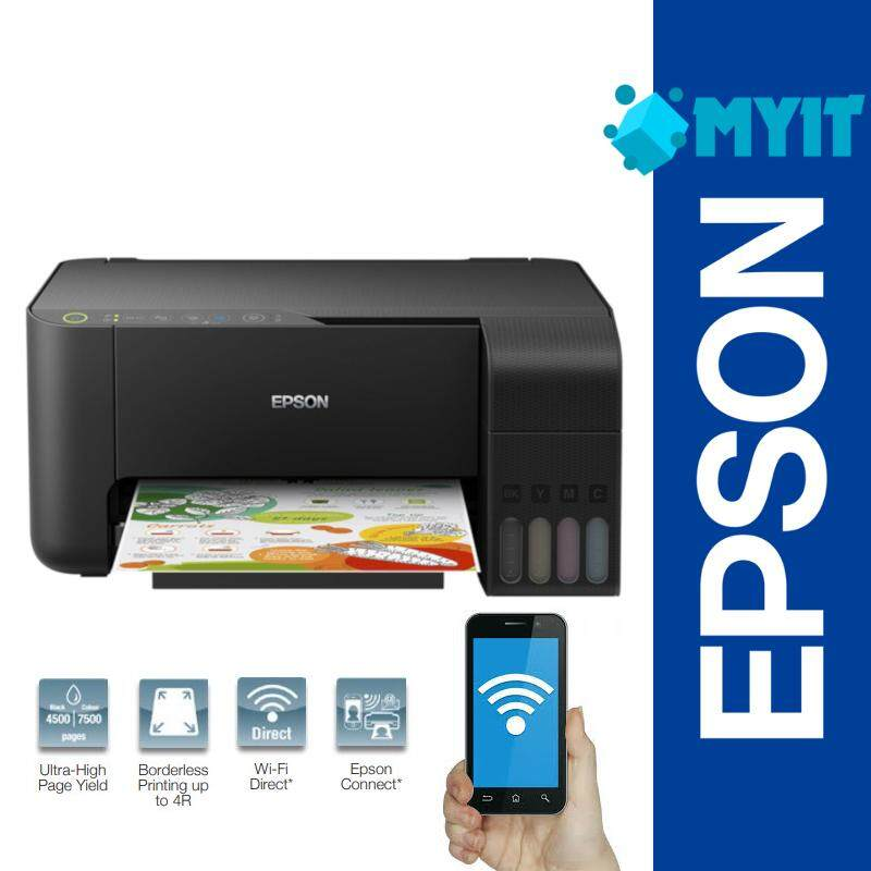 Epson EcoTank L3150 Wifi Wireless A4 Photo Inkjet Printer 3 in 1 with Built-in Ink Tank (Print / Scan / Copy)
