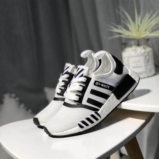 ปัตตานี ขายร้อนสีขาว X Adidas NMD ผู้หญิงสีขาวสีขาวรองเท้าผ้าใบสำหรับวิ่ง