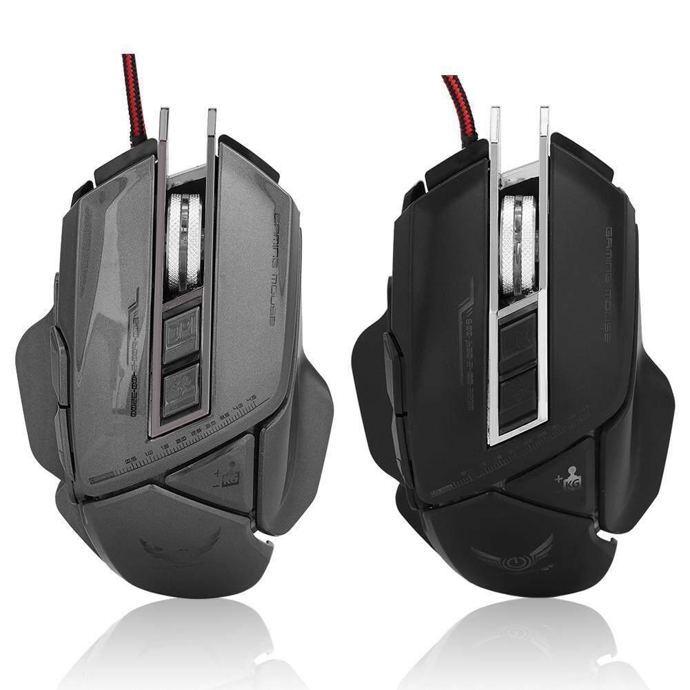 Keyboards - Zerodate 400 4-Level DPI USB Macro Mechanic Gamer Mouse -  [BLACK / GUN-SILVER]