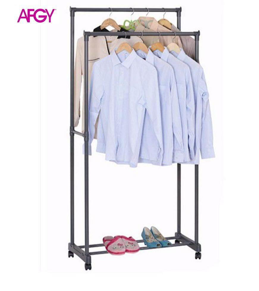 AFGY FGR 030 Heavy Duty Double Garment Rack