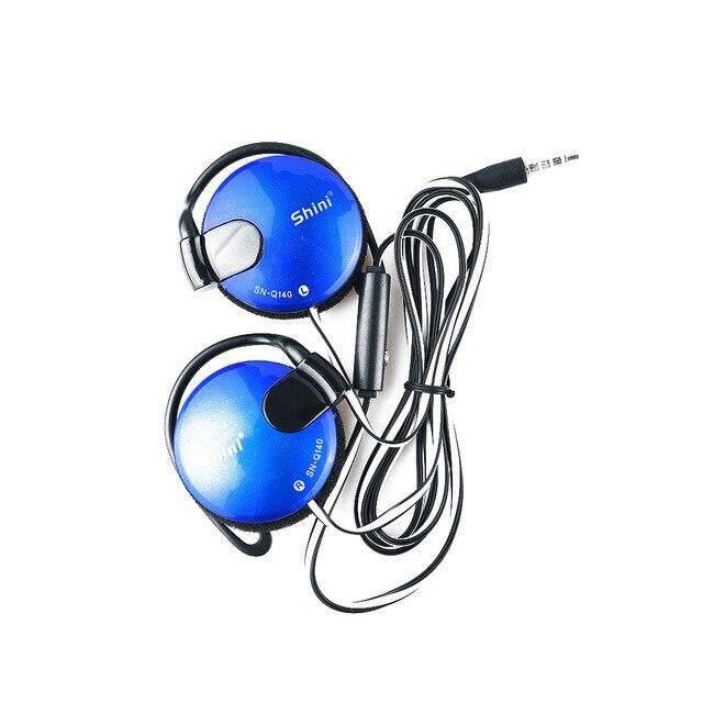 1PC แฟชั่น Universal 3.5 มม. หูฟังสเตอริโอกีฬาเบ็ดหูฟังหูฟังสำหรับแอปเปิ้ลโทรศัพท์มือถือ Xiaomi ลูกแบดมินตันทนทานคุณภาพสูง
