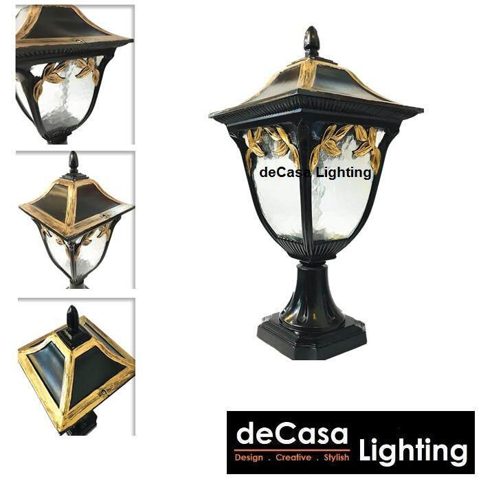 Lampu Pagar Black Gold Outdoor Gate Light Lampu Pillar Lighting Decasa Lighting Best Seller Outdoor Gate Lamp Pillar Light Outdoor Lighting (DJ-139-M-S)