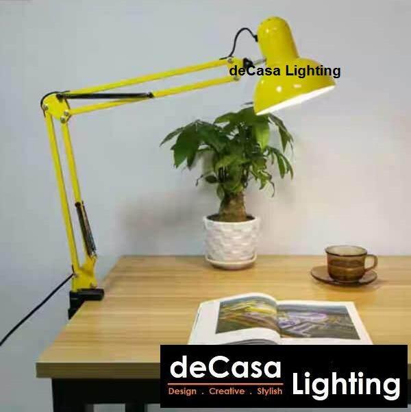 Best Seller Large Size Modern Table Lamp Desk Study Lamp DECASA MODERN CLIP TABLE LAMP CLAMP TYPE (BHL-800B-BK-CLIP)