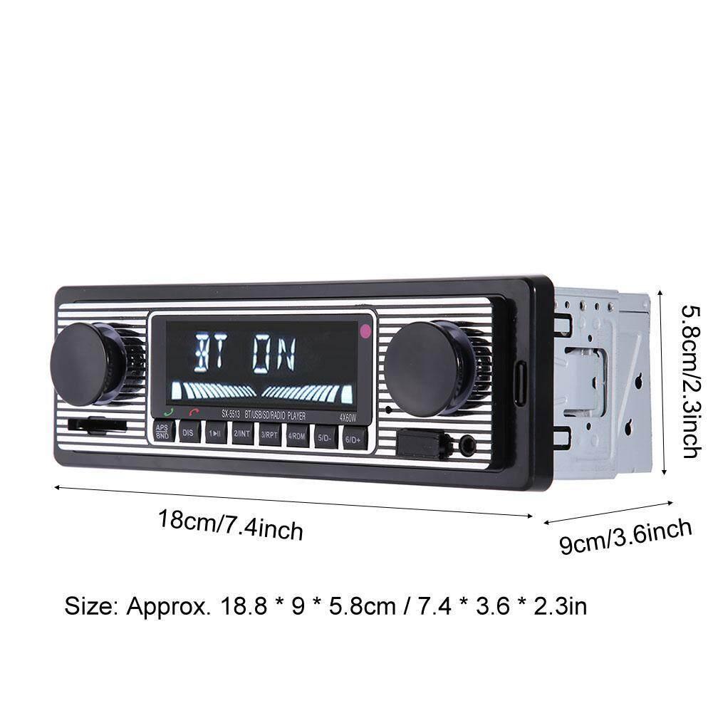 Windscreen Wipers & Windows - Radio Player Car Vehicle Stereo MP3 Din Single Bluetooth Audio