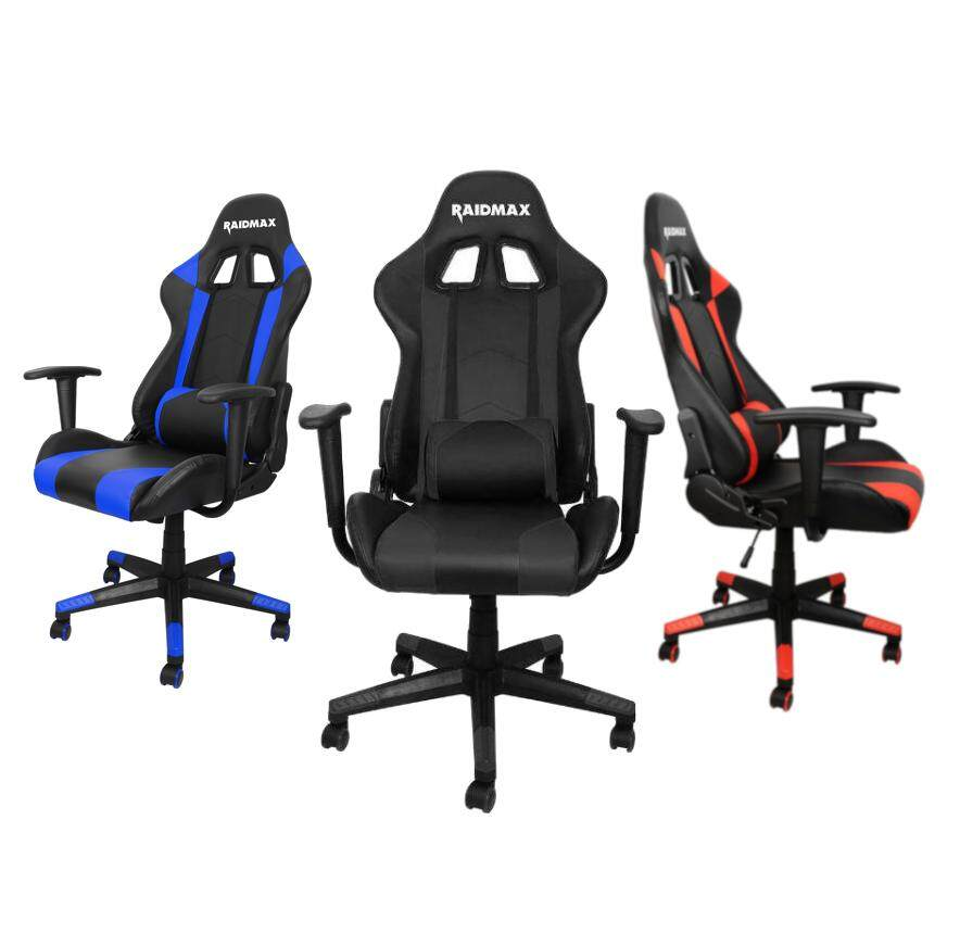 Raidmax Drakon DK702 Racing Gaming Chair with Adjustable Pillow Lift Seat High Back Swivel Chair PU Leather
