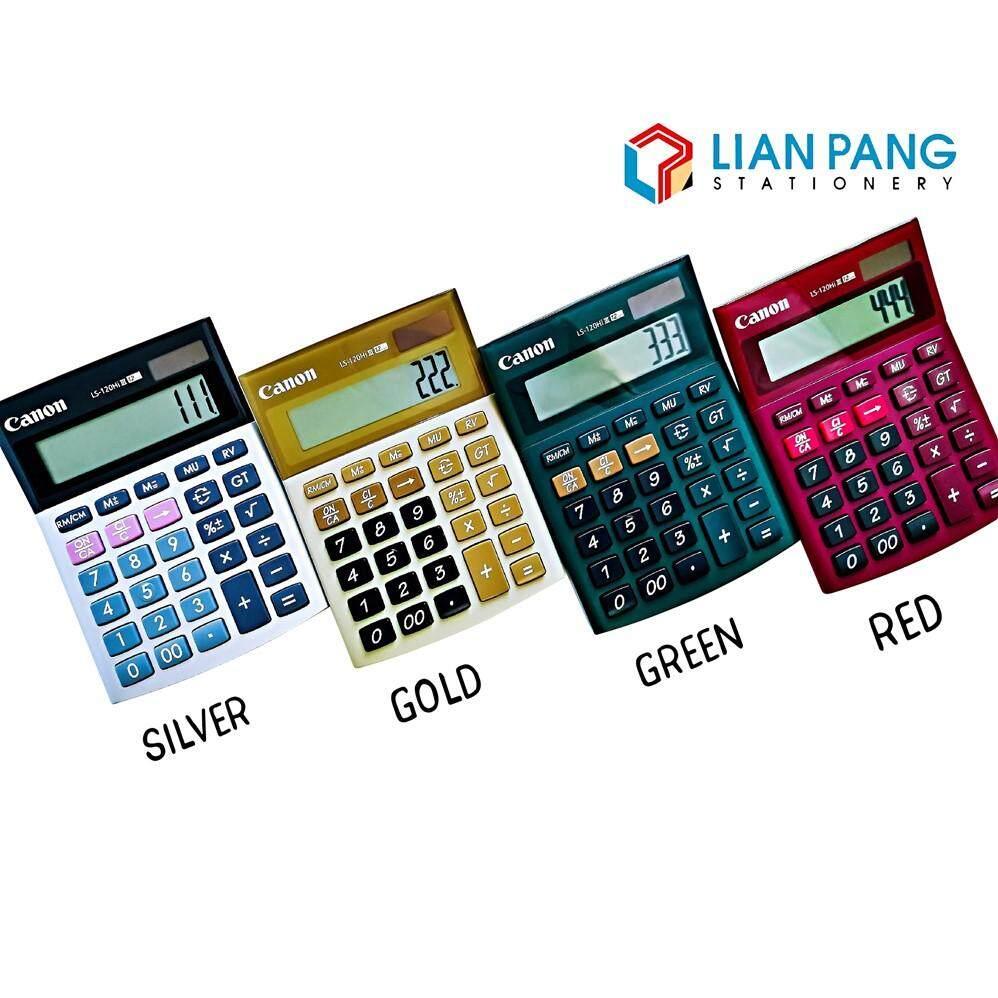 Canon Calculator LS-120 HI III Colour Silver/Gold/Green/Red