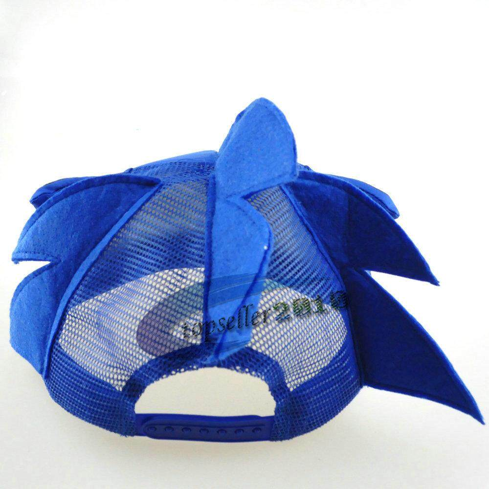Cute Boy Sonic The Hedgehog Cartoon Youth Adjustable Baseball Hat Cap Blue For Boys Hot Selling Damenmode