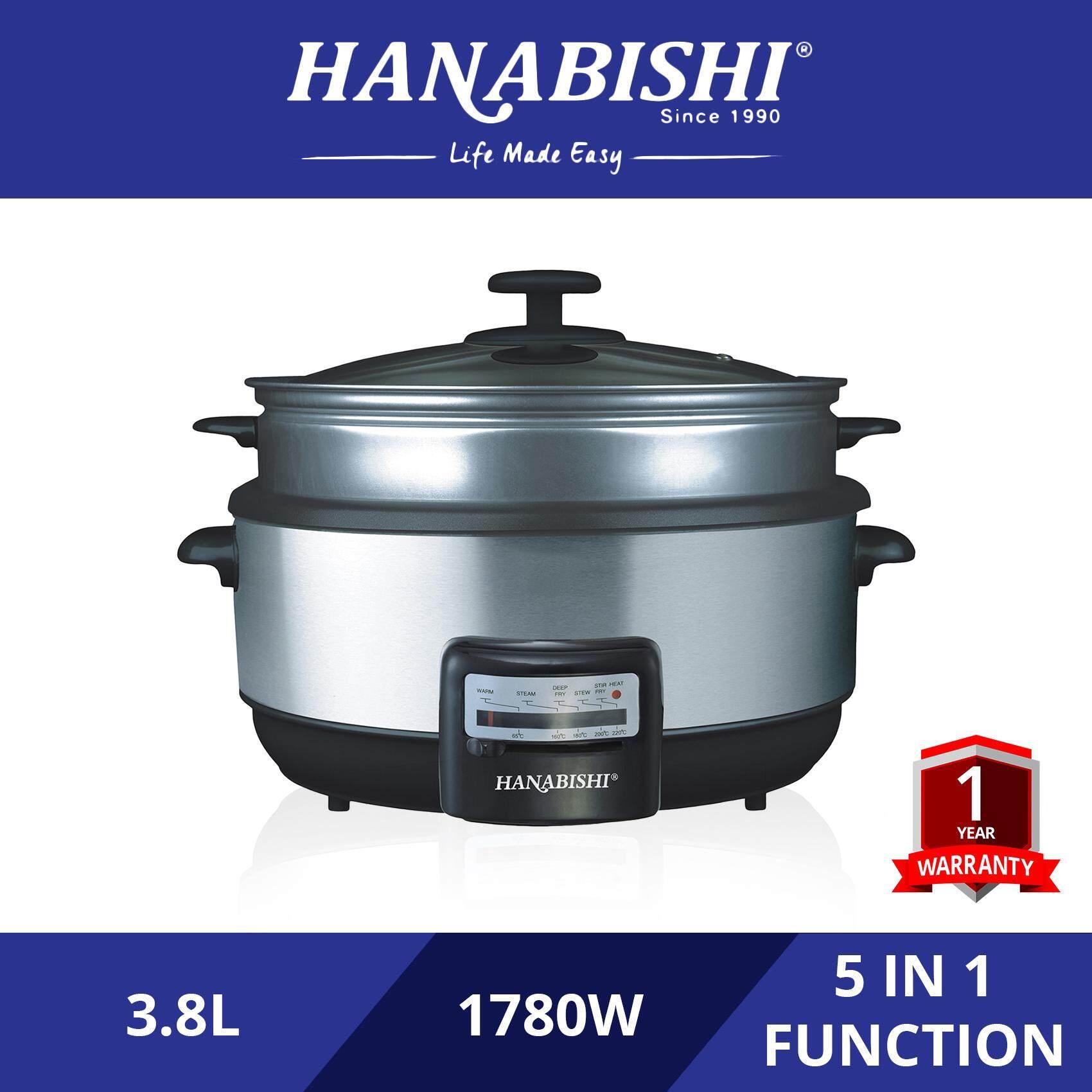Hanabishi Multi Cooker 3.8L Non-Stick Bowl (with Steamer) HA1600