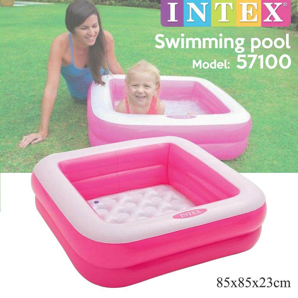 INTEX 57100 2 Rings Swimming Pool Baby Swimming Pool Kids Pool Kolam Renang Kanak-Kanak (85cm x 23cm)