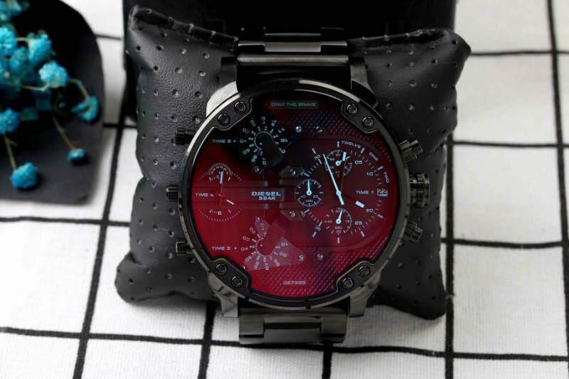 ยี่ห้อนี้ดีไหม  สระบุรี สินค้าของแท้ 100% กันน้ำดีเซลนาฬิกาผู้ชายสไตล์ใหม่! รุ่นสำหรับทหาร. สาม - Eye นาฬิกาจับเวลา Mineral Toughened แก้วกระจกญี่ปุ่นควอตซ์ Core. สายเรซิน