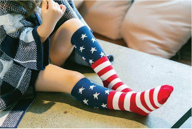 Kids Long Socks Knee Socks - Star & Stripe